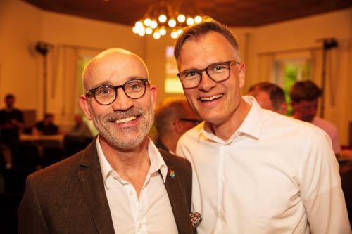 Unser zukünftiger Tourenleiter Thomas (links) und unser Skialpin-Tourenleiter Korbinian haben sich offensichtlich wohl gefühlt.